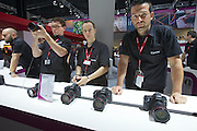 Photokina in Cologne ist the World's biggest bi-annual photo fair..Canon stand. EOS 6D.