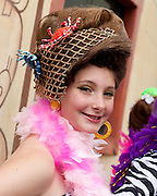 Sophie Freitag poses for a photo following the Miss Honette Contest during Honfest 2014 in Baltimore, MD on Saturday, June 14, 2014.