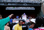 Chubb Rock performs during the City Parks Foundation Salute to Hip Hop event at Von King Park in Brooklyn, New York on June 18, 2014.
