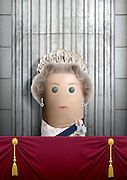 """These royal portraits created by the finger artist DITO VON TEASE<br />known as """"il Dito"""", thatÕs Italian for Òthe FingerÓ. a funny invitation to people to be curious about the complex mystery of personal identities ...  <br /><br />Photo shows: The Queen<br />©Exclusivepix Media"""