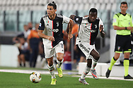 Juventus's Portuguese striker Cristiano Ronaldo and French midfielder Blaise Matuidi during the Serie A match at Allianz Stadium, Turin. Picture date: 26th June 2020. Picture credit should read: Jonathan Moscrop/Sportimage
