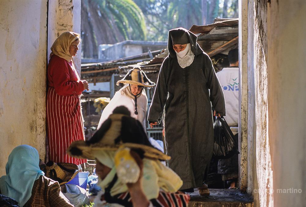 Tangier,  the old city, medina's market..