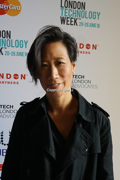 London,England,UK : 20 th June 2016 : Eileen Burbidge of the Passion Capital attend the London Technology Week 2016 opening press day at The Yard,Worship Street, London. Photo by See Li