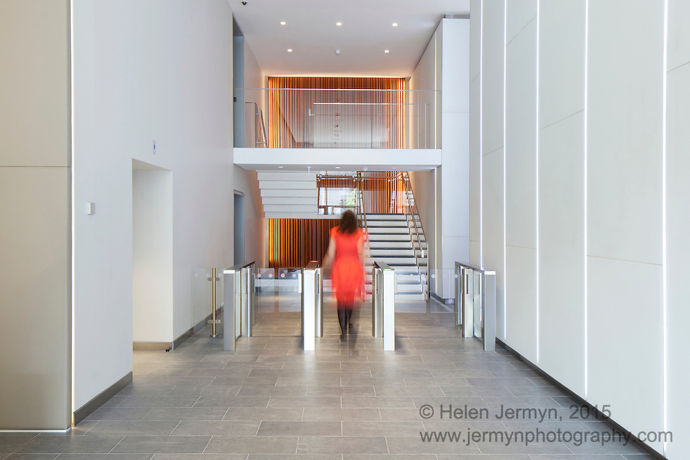 Office reception interior, London