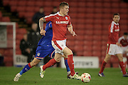 Alfie Mawson (Barnsley) during the Sky Bet League 1 match between Barnsley and Oldham Athletic at Oakwell, Barnsley, England on 12 April 2016. Photo by Mark P Doherty.