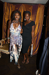 Left to right, KELLE BRYAN and MICHELLE GAYLE at a party to celebrate the 50th Anniversary of Gina Shoes held at The Bar, The Dorchester, Park Lane, London on 19th September 2006.<br /><br />NON EXCLUSIVE - WORLD RIGHTS