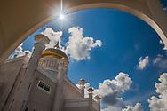 Sultan Omar Ali Saifuddin Mosque, Bandar Seri Begawan, Brunei, blue