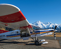 Ski plane at Aoraki National Park, South Island, New Zealand.