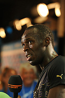 ATHLETICS - AREVA MEETING 2010 - STADE DE FRANCE / ST DENIS (FRA) - 16/07/2010 - PHOTO : STEPHANE KEMPINAIRE / DPPI <br /> 100 M - WINNER - MEN - USAIN BOLT (JAM)