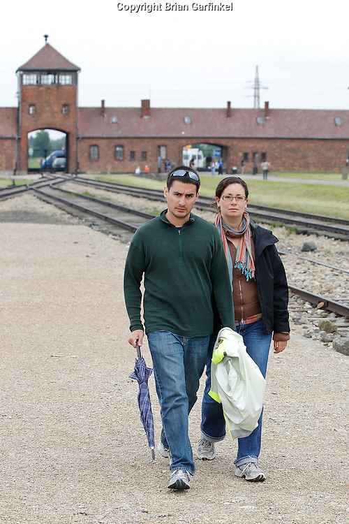 Kate and Jesus in Auschwitz-Birkenau Concentration Camp in Poland on Tuesday July 5th 2011.  (Photo by Brian Garfinkel)