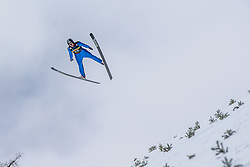 Petek Lojza of Planica soaring through the air during testing jumps at Ski jumping Flying Hill One day before FIS World Cup Ski Jumping Final, on March 20, 2019 in Planica, Slovenia Photo by Matic Ritonja / Sportida