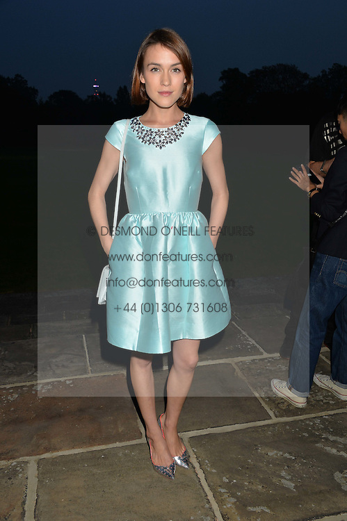 ELLA CATLIFF at a party hosed by the US Ambassador to the UK Matthew Barzun, his wife Brooke Barzun and editor of UK Vogue Alexandra Shulman in association with J Crew to celebrate London Fashion Week held at Winfield House, Regent's Park, London on 16th September 2014.