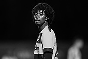 Forest Green Rovers Daniel Ogunleye(10) during the FA Youth Cup match between U18 Forest Green Rovers and U18 Cheltenham Town at the New Lawn, Forest Green, United Kingdom on 29 October 2018.