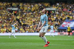 Kevin De Bruyne of Manchester City agonises over a missed chance - Mandatory by-line: Arron Gent/JMP - 18/05/2019 - FOOTBALL - Wembley Stadium - London, England - Manchester City v Watford - Emirates FA Cup Final