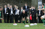 The Wales rugby team press conference and team training on 18/11/2008 ahead of their autumn international against New Zealand.  Local schoolboys watch training and take photographs. pic by Andrew Orchard ©  Andrew Orchard sports photography.