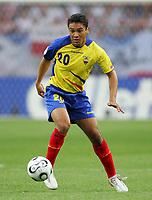 Gelsenkirchen 9/6/2006 World Cup 2006<br /> <br /> Poland Ecuador - Polonia Ecuador 0-2<br /> <br /> Photo Andrea Staccioli Graffitipress<br /> <br /> Edwin Tenorio Ecuador
