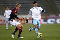 """Anderson Hernanes Lazio Frederick Sorensen Bologna.Bologna 10/12/2012 Stadio """"Dall'Ara"""".Football Calcio Serie A 2012/13.Bologna v Lazio.Foto Insidefoto Paolo Nucci."""
