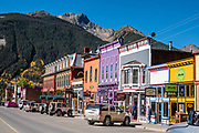 Silverton, Colorado, USA. Silverton is a former silver mining camp, now the federally-designated Silverton Historic District. Durango is linked to Silverton by the Durango and Silverton Narrow Gauge Railroad, a National Historic Landmark. Silverton no longer has active mining, but subsists on tourism, maintenance of US 550 (which links Montrose with Durango), mine pollution remediation, and retirees.