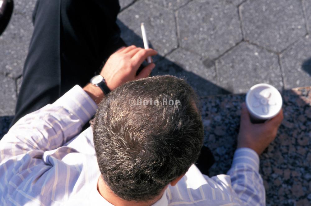 business man having a coffee break