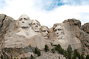 View of Mount Rushmore National Memorial, South Dakota, USA; August, 2011