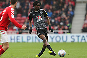 Reading midfielder Oviemuno Ejaria (18) in action during the EFL Sky Bet Championship match between Middlesbrough and Reading at the Riverside Stadium, Middlesbrough, England on 27 April 2019.