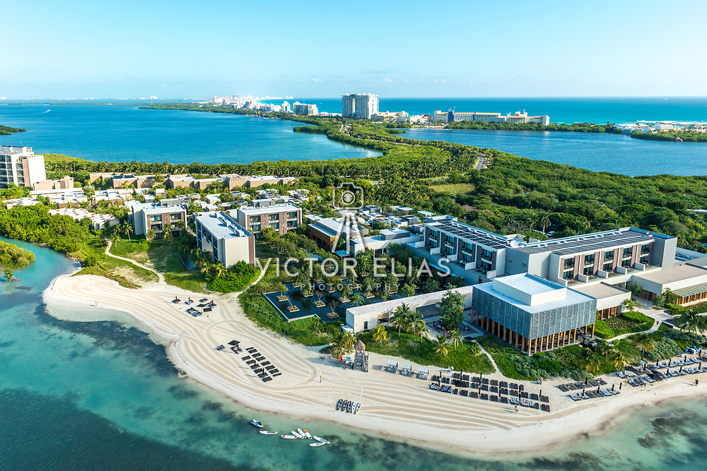 Aerial view of the Nizuc Resort. Cancun, Mexico.