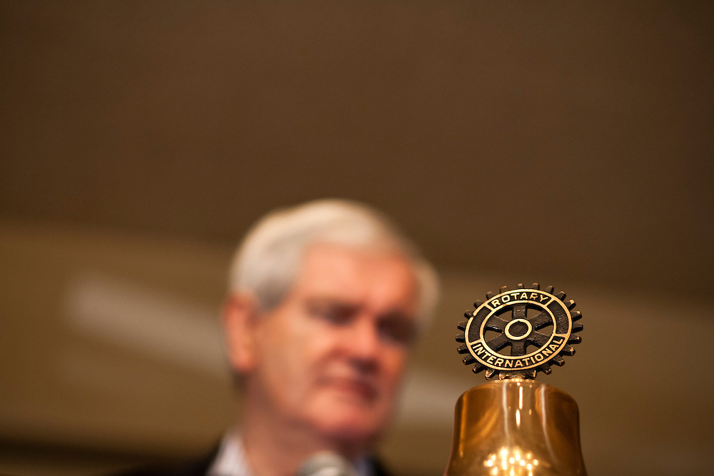 Republican presidential candidate Newt Gingrich speaks at a campaign event at the Wakonda Club on Friday, December 30, 2011 in Des Moines, IA.