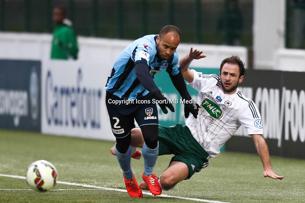 Gary BOCALY / Jerome HERGAULT - 03.01.2015 - Red Star / Arles Avignon - Coupe de France<br />Photo : Sebastien Muylaert / Icon Sport
