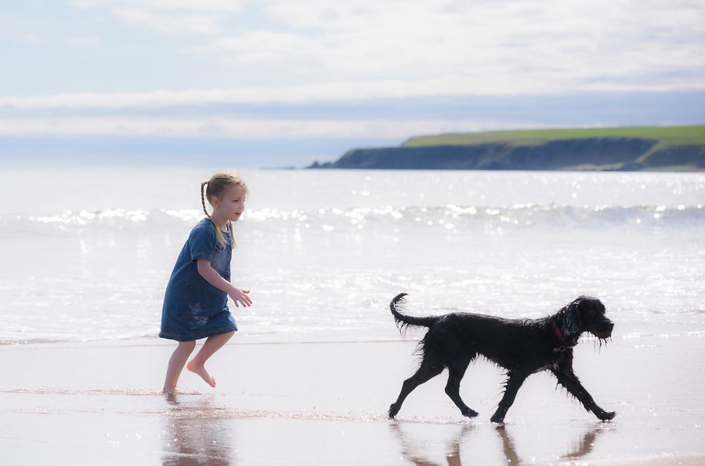 Lunan Bay beach, Angus, Scotland