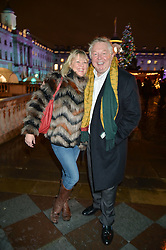 NICK FERRARI and CLARE PATTERSON at Skate At Somerset House with Fortnum & Mason on 16th November 2016.