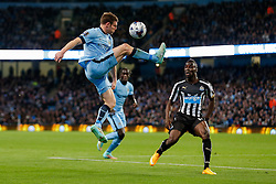 James Milner of Manchester City controils the ball - Photo mandatory by-line: Rogan Thomson/JMP - 07966 386802 - 29/10/2014 - SPORT - FOOTBALL - Manchester, England - Etihad Stadium - Manchester City v Newcastle United - Capital One Cup Fourth Round.