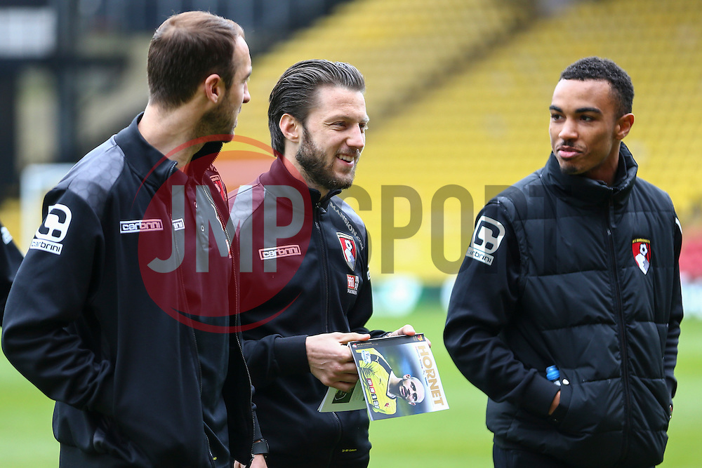 Bournemouth players arrive at Vicarage Road - Mandatory byline: Jason Brown/JMP - 27/02//2016 - FOOTBALL - Vicarage Road - Watford, England - Watford v Bournemouth - Barclays Premier League