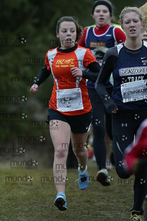 (Guelph, Ontario---28 November 2009) Sadie Petrie of Yhz runs in the Junior Women's at the 2009 AGSI Cross Country Championships in Guelph, Ontario, November 28, 2009..Sean Burges/ Mundo Sport Images, 2009