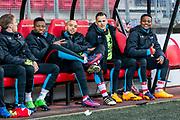 ALKMAAR - 22-04-2017, AZ - FC Twente, AFAS Stadion,2-1, AZ speler Fred Friday, AZ speler Iliass Bel Hassani, AZ speler Mats Seuntjens, AZ speler Levi Garcia