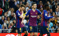 March 2, 2019 - Madrid, Spain - FC Barcelona's Ivan Rakitic during La Liga match between Real Madrid and FC  Barcelona at Santiago BernabÈu in Madrid..Final Score: Real Madrid 0 - 1 FC Barcelona (Credit Image: © Manu Reino/SOPA Images via ZUMA Wire)
