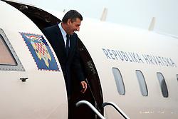 16.11.2012, Flughafen, Zagreb, CRO, Freispruch fuer Generaele Gotovina und Markac. Das UNO-Kriegsverbrechertribunal in Den Haag hat heute in einem Berufungsverfahren die zwei zuvor zu 24 bzw. 18 Jahren Haft verurteilten kroatischen Ex-Generäle Ante Gotovina und Mladen Markac freigesprochen. Ankunft am Airport Zagreb. im Bild Ankunft der beiden freigesprochenen Kroatischen Generäle Ante Gotovina und Mladen Markac am Flughafen in Zagreb // Arrival of the two Croatian generals Ante Gotovina acquitted and Mladen Markac at the airport in Zagreb. The UN war crimes tribunal in Hague has today acquitted on appeal the two previously sentenced to 24 and 18 years in prison for former Croatian generals Ante Gotovina and Mladen Markac, Airport Zagreb, Croatia on 2012/11/16. EXPA Pictures © 2012, PhotoCredit: EXPA/ Pixsell/ Robert Anic..***** ATTENTION - OUT OF CRO, SRB, MAZ, BIH and POL *****