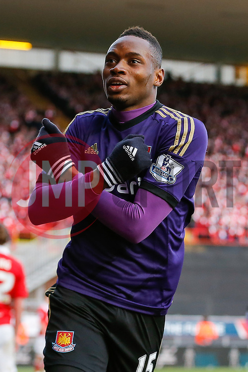 Diafra Sakho of West Ham celebrates scoring a goal to make it 0-1 - Photo mandatory by-line: Rogan Thomson/JMP - 07966 386802 - 25/01/2015 - SPORT - FOOTBALL - Bristol, England - Ashton Gate Stadium - Bristol City v West Ham United - FA Cup Fourth Round Proper.