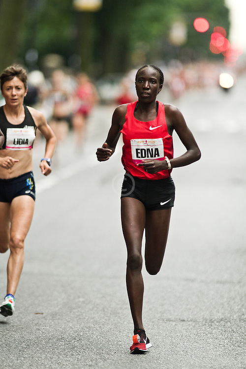 NYRR Mini 10K road race (40th year): Edna Kiplagat