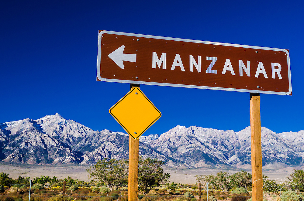 Sign at Manzanar National Historic Site, Lone Pine, California USA