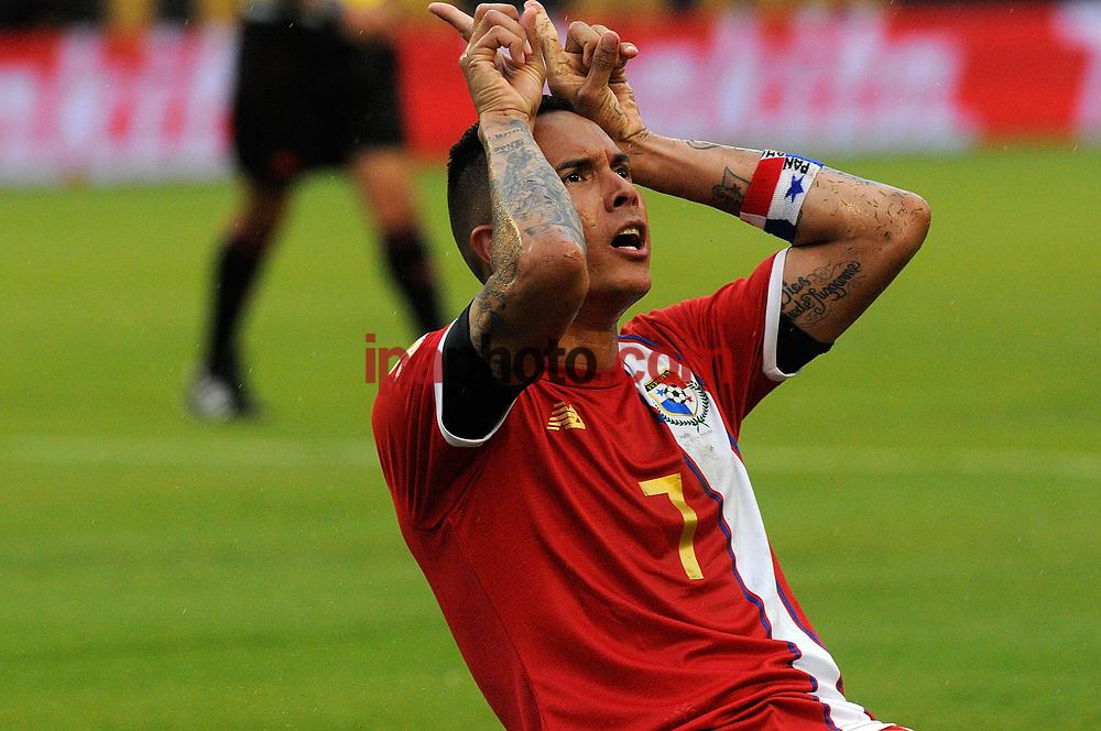 ORLANDO. ( FL EEUU).- 06-06-2016.-    Blas Perez  de la seleccion de Panama festeja el primer  gol frente a Bolivia  durante el enfrentamiento de Copa América Centenario en el estadio Camping World  de Orlando en Florida. (GERARDO MORA/IPAPHOTO.COM)
