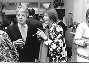 Anna Wintour, Nicholas Haslam. Emma Soames drinks. Rodenhurst Rd. London. 28 May 97© Copyright Photograph by Dafydd Jones 66 Stockwell Park Rd. London SW9 0DA Tel 020 7733 0108 www.dafjones.com
