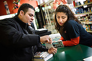 Vicar David Blas, missionary-at-large at LCMS Sheboygan County Hispanic Outreach and St. John's Lutheran Church of Plymouth, Wis., witnesses at La Conquistadora, a Mexican grocery store on Thursday, Jan. 28, 2016, in Sheboygan, Wis. Blas also handed out Portals of Prayer books and dropped off Bibles. LCMS Communications/Erik M. Lunsford