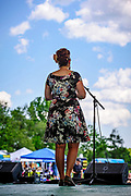 Diana Carino (Hotsy Totsy) looking out at the stage during their performce at the 2017 Appel Farm's Wine & Music Festival.