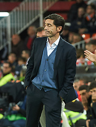 November 3, 2018 - Valencia, Valencia, Spain - Marcelino Garcia Toral of Valencia CF during the La Liga match between Valencia CF and Girona FC at Mestala Stadium on November 3, 2018 in Valencia, Spain (Credit Image: © AFP7 via ZUMA Wire)
