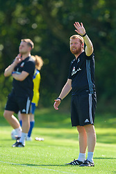 WREXHAM, WALES - Monday, July 22, 2019: North Wales head coach Matty Jones during the Welsh Football Trust Cymru Cup 2019 at Colliers Park. (Pic by Paul Greenwood/Propaganda)