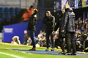 Wycombe Wanderers manager Gareth Ainsworth looks to the sky during the EFL Sky Bet League 1 match between Portsmouth and Wycombe Wanderers at Fratton Park, Portsmouth, England on 26 December 2019.