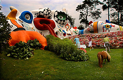 KNOKKE, BELGIUM - JULY-28-2005 - The Dragon House which was designed and built by Niki de Saint Phalle and Jean Tinguely on the Roger Nellens estate in Knokke-Zoute. The house was originally built as a play house for Roger Nellens children. (Photo © Jock Fistick)