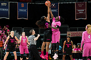 February 11, 2018: Shakayla Thomas #20 of Florida State in action during the NCAA basketball game between the Miami Hurricanes and the Florida State Seminoles in Coral Gables, Florida. The Seminoles defeated the 'Canes 91-71.