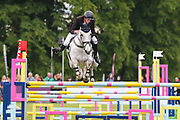 Alfies Clover ridden by Richard P Jones in the Equi-Trek CCI-4* Show Jumping during the Bramham International Horse Trials 2019 at Bramham Park, Bramham, United Kingdom on 9 June 2019.