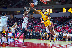 NORMAL, IL - February 15: Antonio Reeves knocks away a reach back shot by Donovan Clay during a college basketball game between the ISU Redbirds and the Valparaiso Crusaders on February 15 2020 at Redbird Arena in Normal, IL. (Photo by Alan Look)